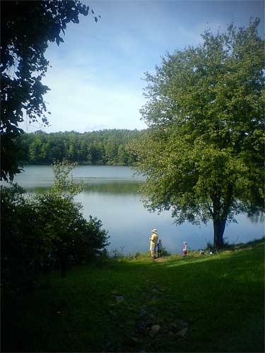 Fishing at Chris Green Lake